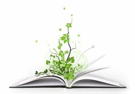 Libros y naturaleza.