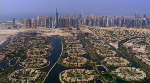 Poderoso caballero es don Dinero. Ante ustedes, el nada artificioso paisaje de Dubai.