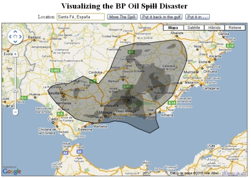 El vertido de BP en el Golfo de México trasladado a Granada.