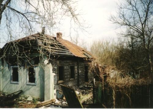 Pueblo abandonado cerca de Chernóbil.