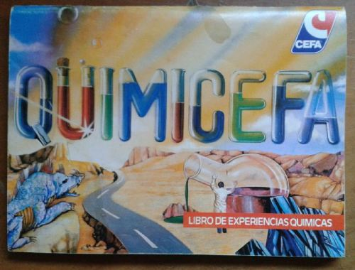 El libro de experiencias químicas de Quimicefa.